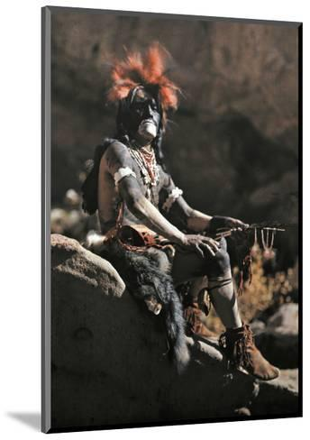 Portrait of Hopi Snake Clan Priest Adorned in Paint and Ornaments-Franklin Price Knott-Mounted Photographic Print