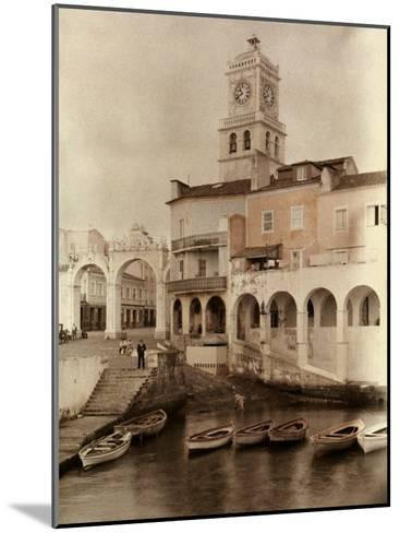 View of Ponta Delgada's City Gates and Clock Tower-Wilhelm Tobien-Mounted Photographic Print