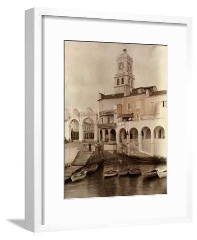View of Ponta Delgada's City Gates and Clock Tower-Wilhelm Tobien-Framed Art Print