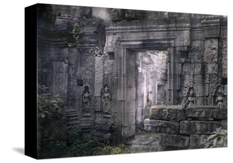 View of Khmer King Yacovarman's Ancient City, Angkor Thom-Gervais Courtellemont-Stretched Canvas Print