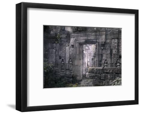 View of Khmer King Yacovarman's Ancient City, Angkor Thom-Gervais Courtellemont-Framed Art Print