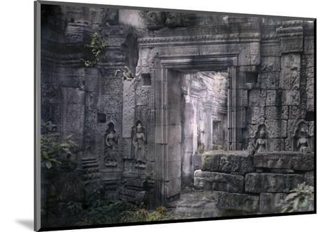 View of Khmer King Yacovarman's Ancient City, Angkor Thom-Gervais Courtellemont-Mounted Photographic Print