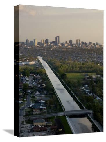 Aerial of London Avenue Canal, Which Burst During Hurricane Katrina-Tyrone Turner-Stretched Canvas Print