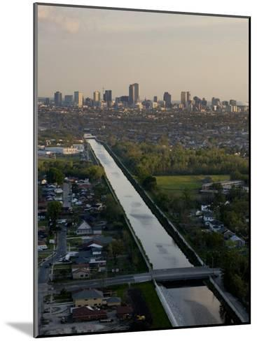 Aerial of London Avenue Canal, Which Burst During Hurricane Katrina-Tyrone Turner-Mounted Photographic Print