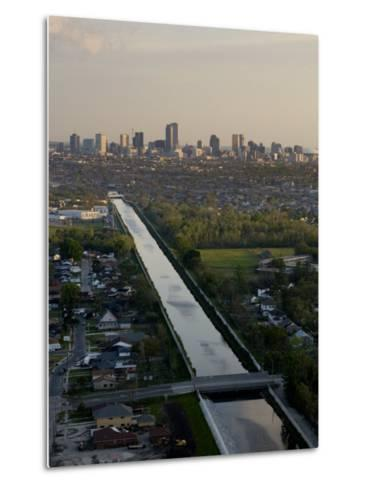 Aerial of London Avenue Canal, Which Burst During Hurricane Katrina-Tyrone Turner-Metal Print