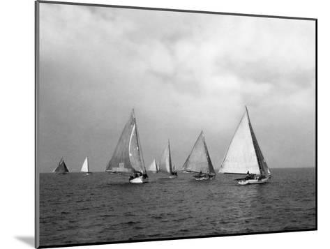 View of Oyster Dredgers Sailing across the Bay-Jacob Gayer-Mounted Photographic Print