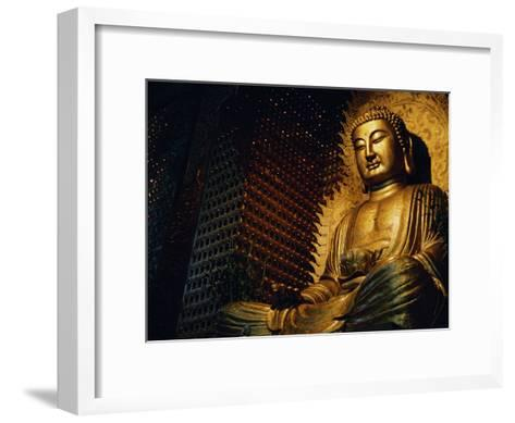 Buddha Found in a Temple in the Buddhist Monastery Foguangshan-xPacifica-Framed Art Print