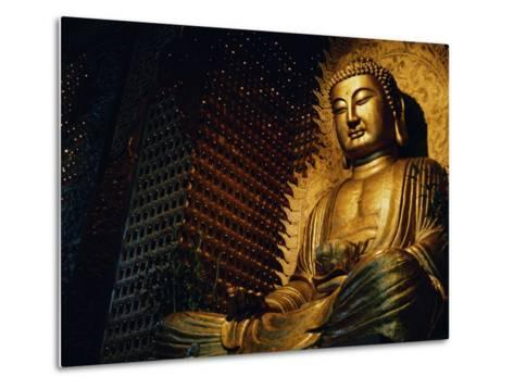 Buddha Found in a Temple in the Buddhist Monastery Foguangshan-xPacifica-Metal Print