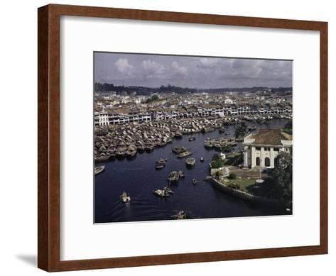 Singapore River Separates North from South and Old from New-Joseph Baylor Roberts-Framed Art Print