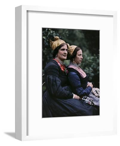 Women Wear Traditional Caps on Festival Days-Hans Hildenbrand-Framed Art Print