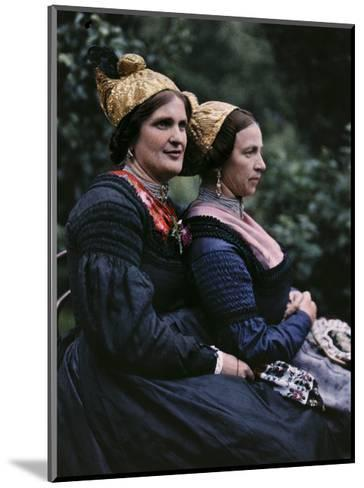 Women Wear Traditional Caps on Festival Days-Hans Hildenbrand-Mounted Photographic Print