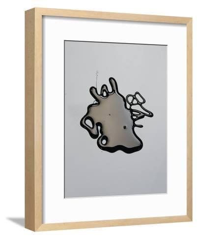 Puddle of Venezuelan Crude Oil-Rebecca Hale-Framed Art Print
