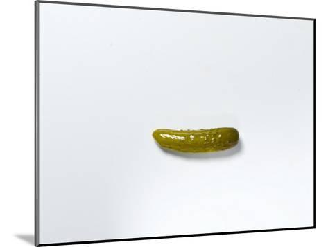 Studio Shot of a Pickle-Rebecca Hale-Mounted Photographic Print