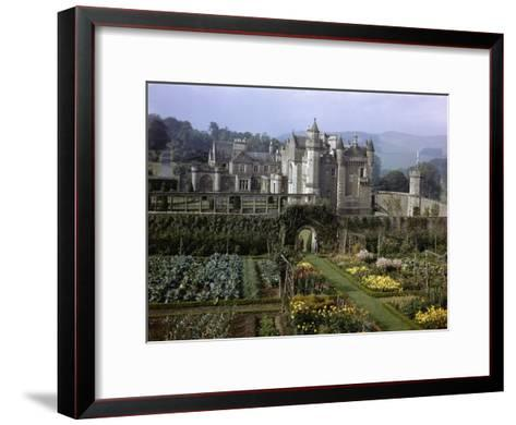 Tourists Walk in Gardens of Abbotsford House-B^ Anthony Stewart-Framed Art Print
