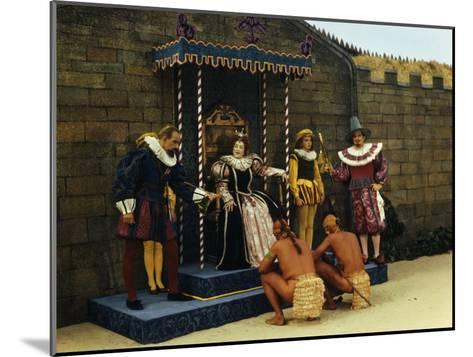 Actors Perform a Scene from a Play About the Lost Colony-Jack Fletcher-Mounted Photographic Print