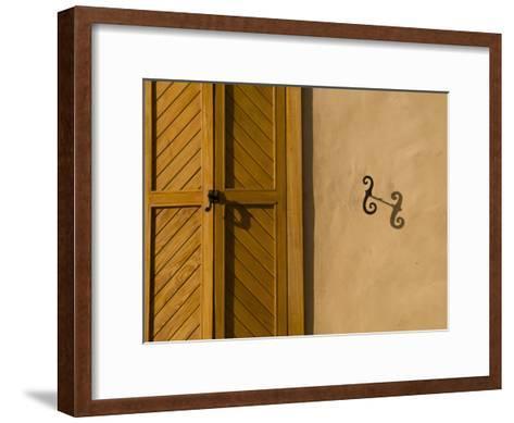 Details of an Adobe House in Santa Fe-Michael S^ Lewis-Framed Art Print