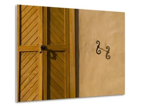 Details of an Adobe House in Santa Fe-Michael S^ Lewis-Metal Print