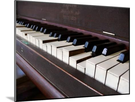 Keys on an Old Piano Show their Age as their Action Has Deteriorated-White & Petteway-Mounted Photographic Print