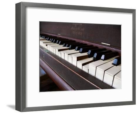 Keys on an Old Piano Show their Age as their Action Has Deteriorated-White & Petteway-Framed Art Print