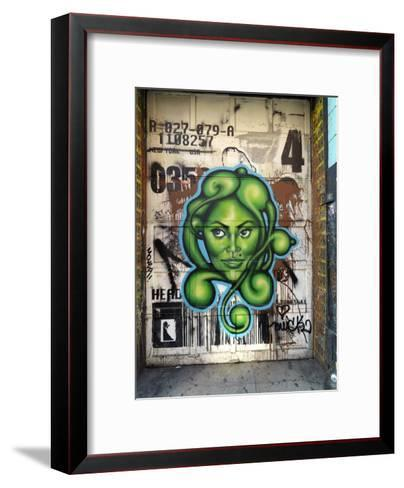 Graffiti on the Wall of a Building in New York's Lower East Side-xPacifica-Framed Art Print