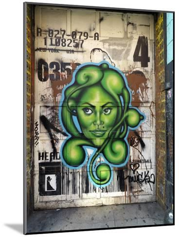 Graffiti on the Wall of a Building in New York's Lower East Side-xPacifica-Mounted Photographic Print