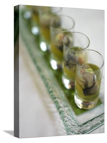Oyster Shooters at Hotel Jia Restaurant in Hong Kong-xPacifica-Stretched Canvas Print
