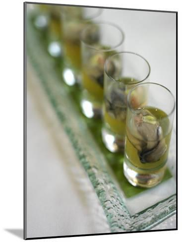 Oyster Shooters at Hotel Jia Restaurant in Hong Kong-xPacifica-Mounted Photographic Print