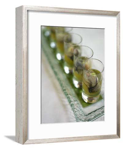 Oyster Shooters at Hotel Jia Restaurant in Hong Kong-xPacifica-Framed Art Print