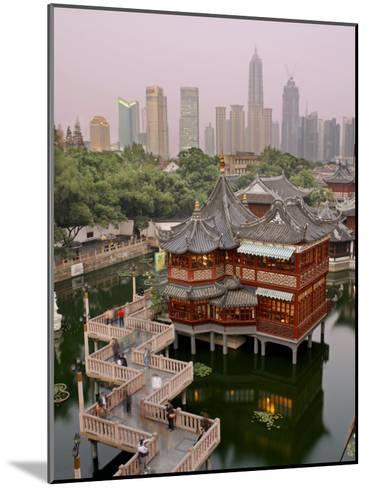 Traditional Tea House in Yu Yuan, a Famous Historical Destination-xPacifica-Mounted Photographic Print