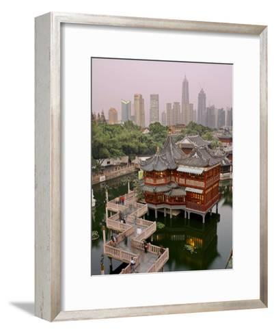 Traditional Tea House in Yu Yuan, a Famous Historical Destination-xPacifica-Framed Art Print