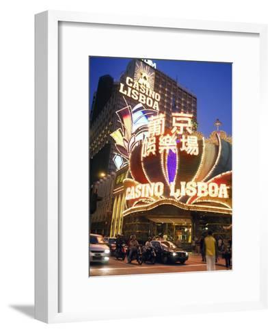 Facade of the Casino Lisboa, the Original Macau Casino-xPacifica-Framed Art Print