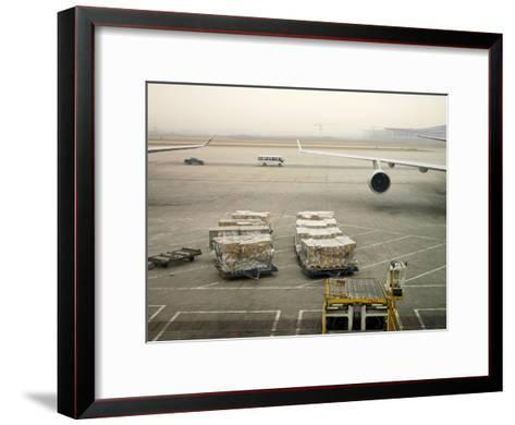 Cargo Waiting to Be Loaded onto Planes at the Beijing Airport-xPacifica-Framed Art Print