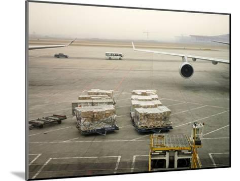 Cargo Waiting to Be Loaded onto Planes at the Beijing Airport-xPacifica-Mounted Photographic Print
