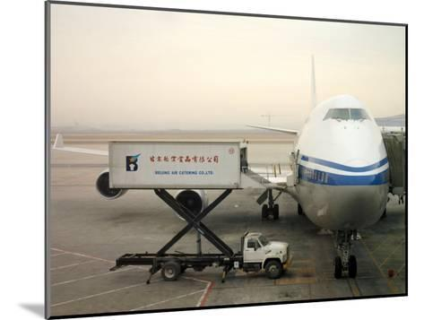 Cargo Is Loaded onto a Plane at the Beijing International Airport-xPacifica-Mounted Photographic Print