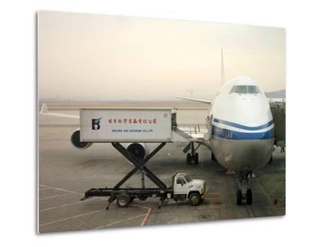 Cargo Is Loaded onto a Plane at the Beijing International Airport-xPacifica-Metal Print