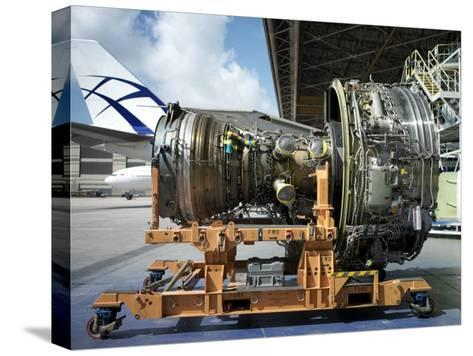 Close Up of a Turbine from a Commercial Aircraft-xPacifica-Stretched Canvas Print