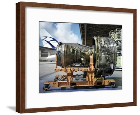 Close Up of a Turbine from a Commercial Aircraft-xPacifica-Framed Art Print