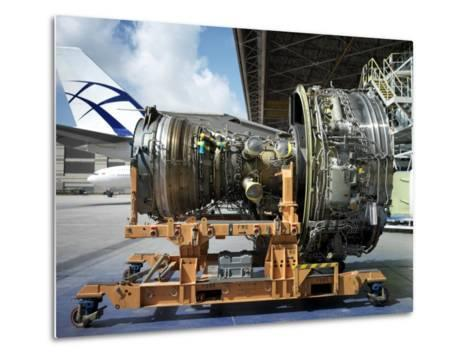 Close Up of a Turbine from a Commercial Aircraft-xPacifica-Metal Print