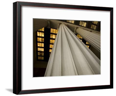 Columns of the Lincoln Memorial-Stacy Gold-Framed Art Print