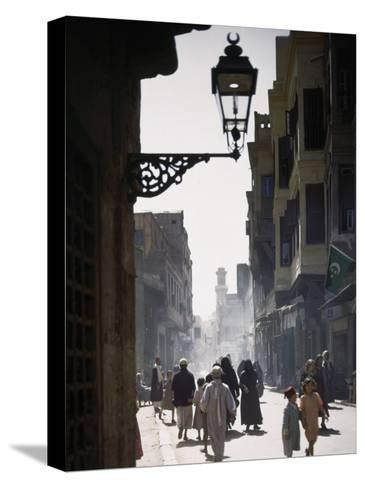 Oriental Quarter in Cairo Is Bustling with People-B^ Anthony Stewart-Stretched Canvas Print