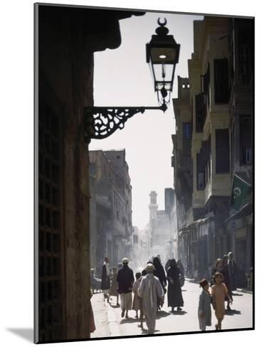 Oriental Quarter in Cairo Is Bustling with People-B^ Anthony Stewart-Mounted Photographic Print