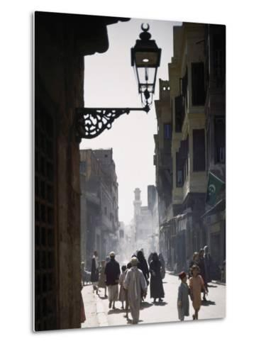 Oriental Quarter in Cairo Is Bustling with People-B^ Anthony Stewart-Metal Print