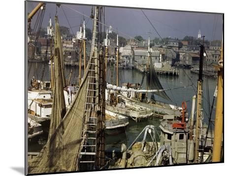 Commercial Fishing Boats of All Sizes Crowd the Town's Busy Harbor-B^ Anthony Stewart-Mounted Photographic Print