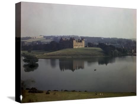 Ruins of Linlithgow Palace Reflect in Tranquil Waters of Nearby Lake-B^ Anthony Stewart-Stretched Canvas Print