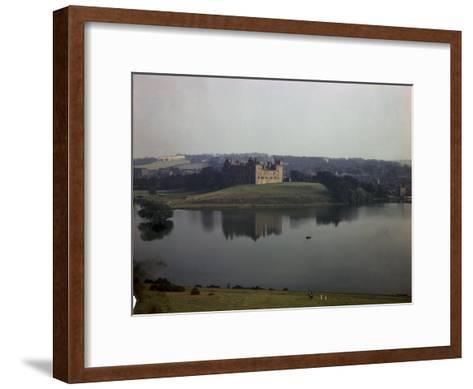 Ruins of Linlithgow Palace Reflect in Tranquil Waters of Nearby Lake-B^ Anthony Stewart-Framed Art Print