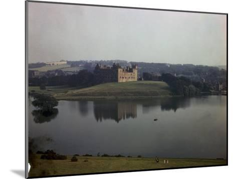 Ruins of Linlithgow Palace Reflect in Tranquil Waters of Nearby Lake-B^ Anthony Stewart-Mounted Photographic Print
