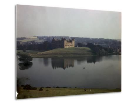 Ruins of Linlithgow Palace Reflect in Tranquil Waters of Nearby Lake-B^ Anthony Stewart-Metal Print