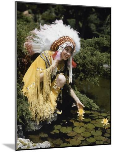 Miss Oklahoma of 1940 Poses in American Indian Attire-B^ Anthony Stewart-Mounted Photographic Print