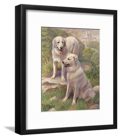 Kuvasz Dogs are Used as Watchdogs--Framed Art Print