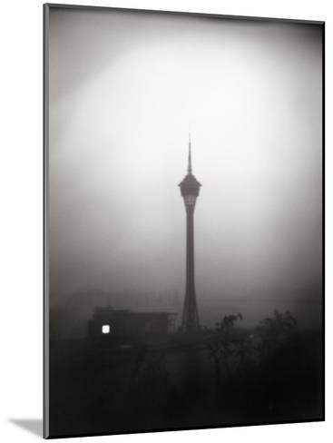 Black and White Portrait of the The Tv Tower of Macau-xPacifica-Mounted Photographic Print